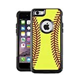 iphone 6 protective case softball - Protective Designer Vinyl Skin Decals / Stickers for OtterBox Commuter iPhone 6 PLUS / 6S PLUS Case Cover - Softball design patterns - Only SKINS and NOT Case- by [TeleSkins]