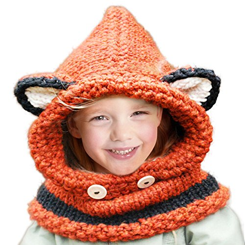 94d8e000672 Jhua Baby Kids Warm Winter Hat Crochet Knitted Caps Hood Scarves Beanies -  Buy Online in UAE.