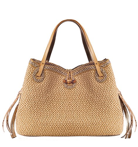 Eric Javits Luxury Fashion Designer Women's Handbag -Watuti II - Peanut