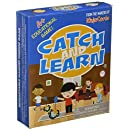 PlaSmart Catch and Learn by The educational game where you fish for answers, fishing game, spelling, grammar, math, fine motor skills, Includes dry-erase fish, dry-erase marker, fishing rod, Ages 4+