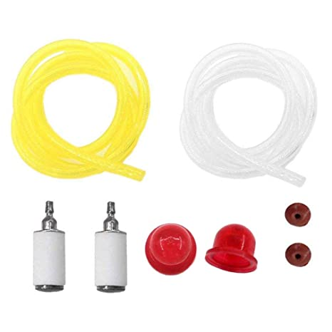 amazon com aisen fuel line filter primer bulb check valve for Poulan Weedeater Fuel Filter Weedeater Featherlite Fuel Filter #5