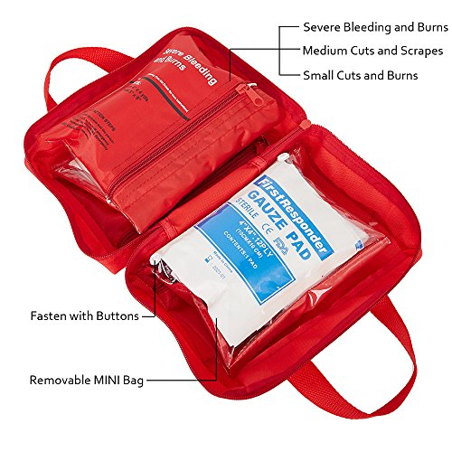 Dporticus 2 in 1 Compact First Aid Kit 90-Piece for Car, Travel, Camping, Home, Office, Sports, Survival | Complete Emergency Bag by Dporticus (Image #2)
