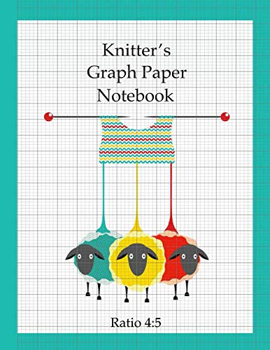 Knitter's Graph Paper Notebook: design your own knitting patterns, asymmetric knitters journal 4:5 -