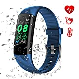 AK1980 Fitness Tracker, Activity Tracker Watch with Heart Rate Monitor Blood Pressure Blood