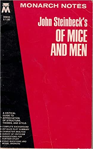 Business Essay Writing Of Mice And Men Monarch Notes John Steinbeck  Amazoncom  Books How To Write A Thesis Paragraph For An Essay also Narrative Essay Topics For High School Of Mice And Men Monarch Notes John Steinbeck   Personal Narrative Essay Examples High School