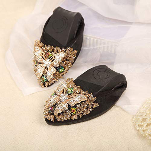 Chaussures Plate Papillon Talons De Flyrcx A Antidrapantes 42 Eu Pointues En Strass Maternit Femme Semelle Travail Aux HEzYYwqd