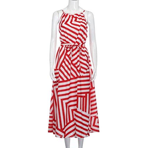 vestidos de fiesta largos Switchali moda vestidos verano mujer diariamente Sin mangas maxi vestido de novia vintage casual de las mujeres de senora atractivo Vestido para mujer baratos Rojo