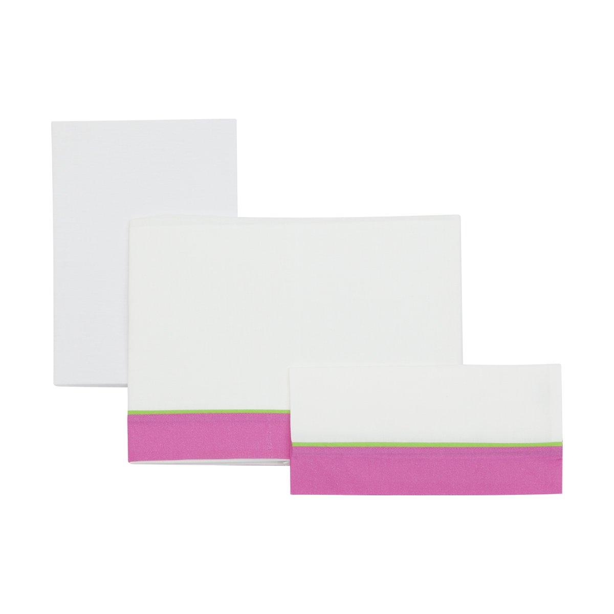 Cambrass Ele - Sábanas para cuna, 3 piezas, 100 x 165 cm 728 ele