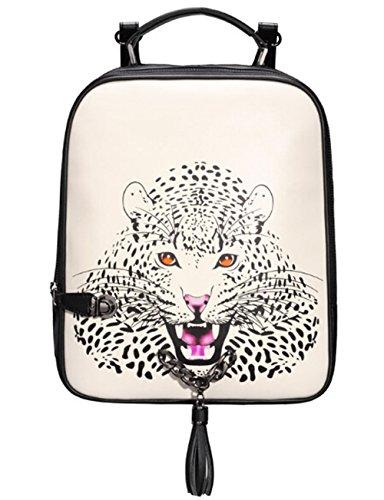 BEIER SB9 Leopard Head Personality Chain bag Tassel Shoulders Backpack