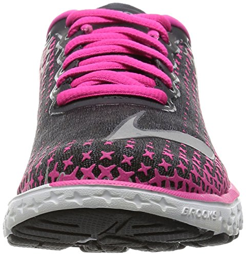 alloy Para Running Glow Anthracite pink Mujer 5 W Pureflow Zapatillas De Brooks YFPp1P