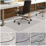 Office Chair Mat for Carpeted Floors | Desk Chair Mat for Carpet | Clear PVC mat in Different thicknesses and Sizes for Every Pile Type | Low-Pile 30x48 with Lip