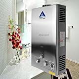 Youzee 3.2GPM Water Heater 12L LPG Propane Gas Tankless Stainless Instant Boiler (US Stock)