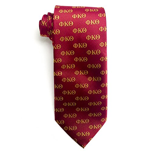 Phi Kappa Theta Fraternity Necktie Greek Formal Occasion Standard Length Width Hanky Pocket Square (Letter ()