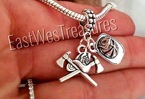 Firefighter Maltese Cross charm bracelets and necklace-Jewelry gift for men women