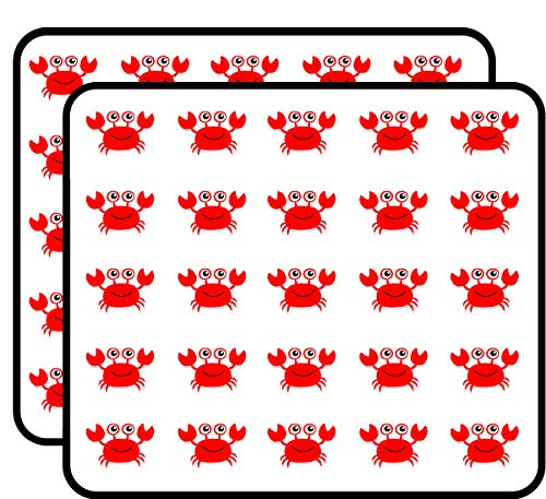 Kids Happy Crab - Happy Red Crab Sticker for Scrapbooking, Calendars, Arts, Kids DIY Crafts, Album, Bullet Journals 50 Pack