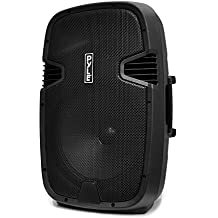 Pyle PA Loudspeaker Powered Active System Portable Bluetooth - 12 Inch Bass Subwoofer with Built-in USB for MP3 Amplifier - DJ Party Sound Stereo Amp Sub for Concert Audio or Band Music PPHP122BMU