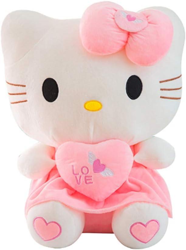 Lindo Hello Kitty Peluche De Juguete Decoración para El Hogar Muñeca Peluche Peluche Animal Regalo De Cumpleaños De San Valentín (30-100Cm),Rosado,30cm