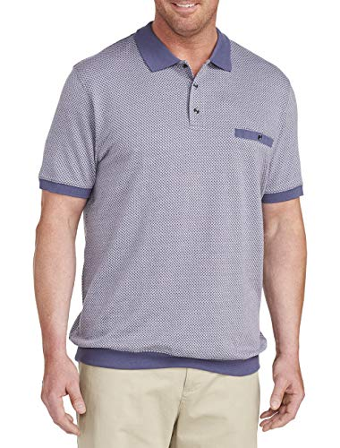 Harbor Bay by DXL Big and Tall Basketweave Pattern Banded Bottom Shirt