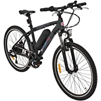 Simple Bike Vélo électrique Noir - 250 Watts - Adulte - VTT - Batterie Amovible (XDLC Lithium Cell 36V8.8Ah)