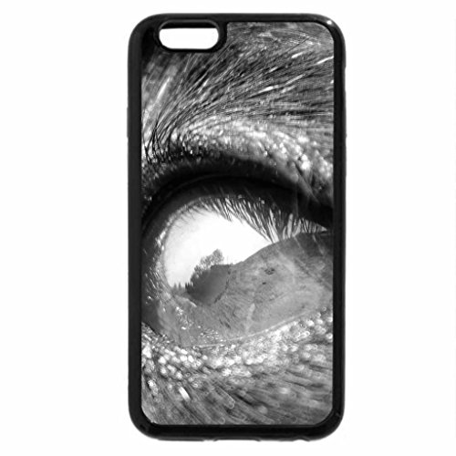 iPhone 6S Plus Case, iPhone 6 Plus Case (Black & White) - A world in her eye