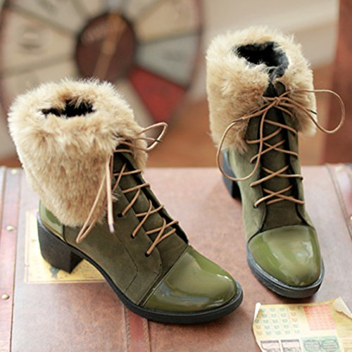 Classic AIYOUMEI Green Green Boot Classic Boot Classic Green Women's AIYOUMEI Women's Boot AIYOUMEI Women's AIYOUMEI F8fwqR