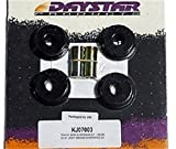 Daystar, Jeep XJ Cherokee and MJ Comanche Polyurethane Control Arm Bushings with thrust washers and steel tubes, fits 1984 to 2001 XJ and 1986 to 1992 MJ 2/4WD, KJ03002BK, Made in America