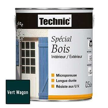 Peinture Spécial Bois Vert Wagon 05 L Technic 124495d Amazon