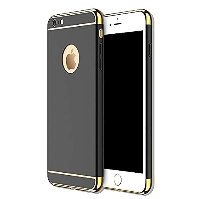 miglior servizio 89a64 df375 Anyos iPhone 5 5S SE 3 in 1 Hard Case, Electroplate Ultra-Thin Shockproof  Protective PC Cover for iPhone 5 5S SE 4.0 inch