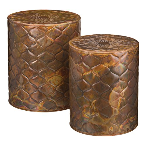 Regal Art & Gift 20186 Garden Stool (Set of 2), Copper Trellis