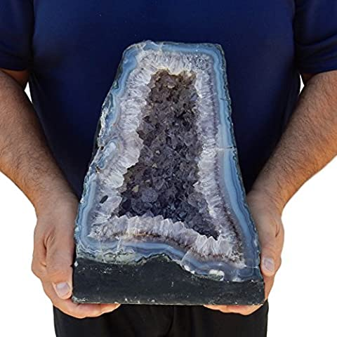 Large Amethyst Cathedral Natural - Quartz Crystal Cluster from Brazil - 22-23lbs (AC-01) (Jumbo Crystal Rings)