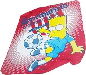Los Simpson Bart Simpson manta colcha para niños de fútbol