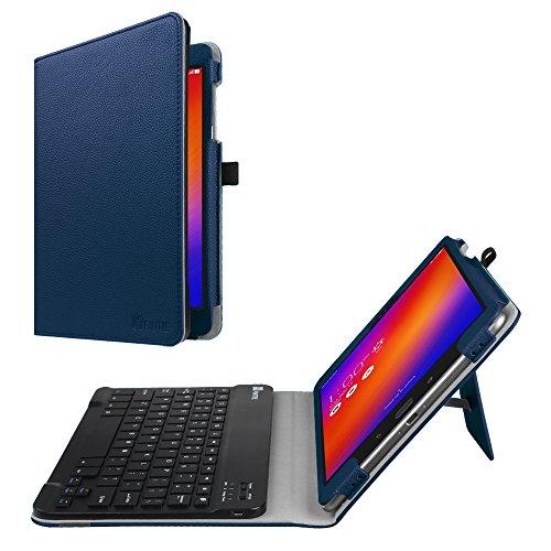 Fintie Asus ZenPad 3S 10 Z500M / ZenPad Z10 ZT500KL Keyboard Case - Slim Fit Folio Stand Cover w/Detachable Wireless Bluetooth Keyboard for Verizon Asus ZenPad Z10 / 3S 10 9.7-Inch Tablet, Navy