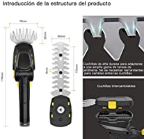 TECCPO Tijeras Cortacésped, 7.2V Tijeras Cortacésped a Batería de ...