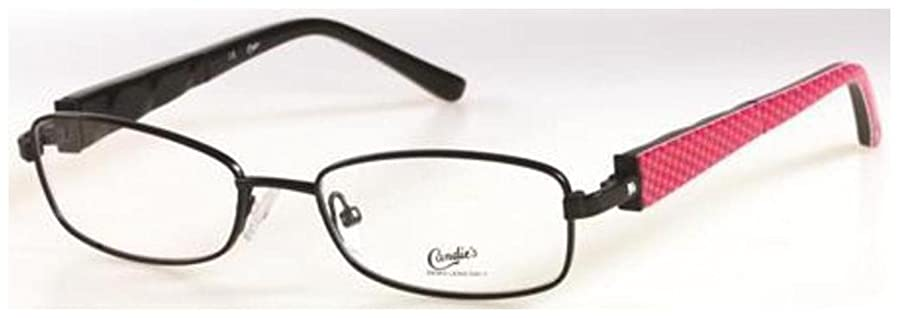 CANDIES Eyeglasses CT DENA Satin Black 50MM at Amazon Men\'s Clothing ...