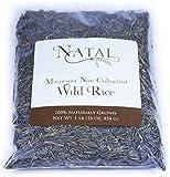 Natal Minnesota Non-Cultivated Wild Rice, 1 Pound (16 oz, 454 g)