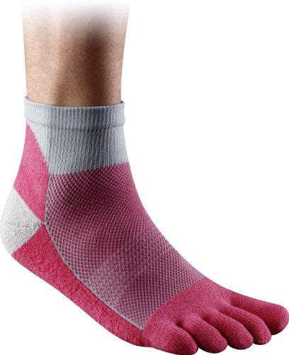 Injinji - 2012 - Performance Midweight Mini Crew Sock, Poppy/Pink, ()