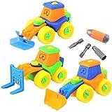 Set di 3 Costruzioni Giocattolo in plastica da Assemblare - Ideale Regalo per Bambini da 3 Anni