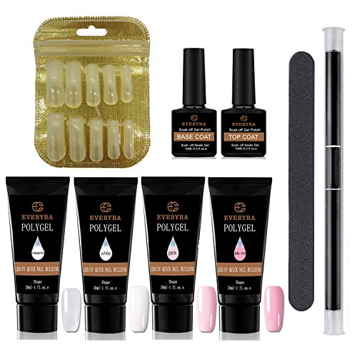 - Poly Gel Kit Nail Enhancement Builder Gel 30ml4 Poly Gel Professional All-in-one Nail Technician Extension Trial Set by EVEBYRA