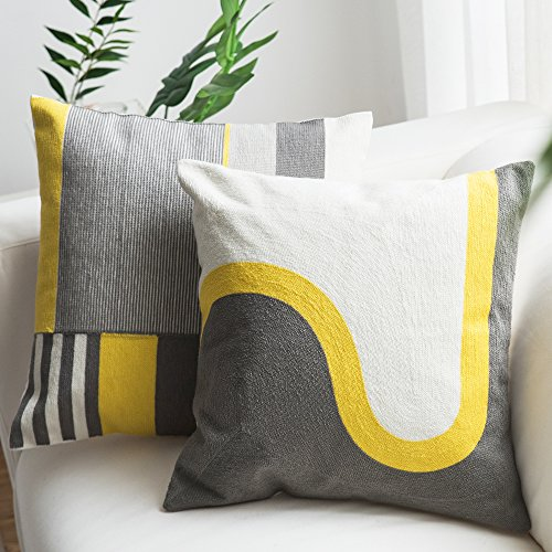 Modern Decorative Pillow (Lananas Modern Decorative Throw Pillow Covers for Couch Geometric Home Pillow Cushion Cover for Sofa 18