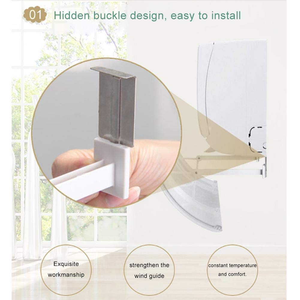 Luckybaby Wall-mounted air conditioner windshield,Universal Foldable Air Conditioning Hood Baffle Anti Direct Blowing Retractable Air Conditioner Shield