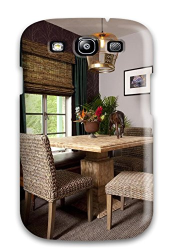 Excellent Design Breakfast Nook With Neutral Grey Paint And Wicker Chairs Phone Case For Galaxy  ...