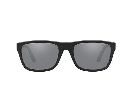 Ralph Lauren POLO 0PH4145 Gafas de sol, Matte Black/Rubber ...