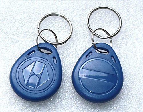 Blue 100pcs 125Khz Proximity ID Card Chip TK EM 4100 RFID Tag Key Fob  Keyfobs Keychain Ring Token for Access Control