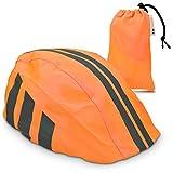 kwmobile Rain Protector Helmet Cover - Waterproof Helmet Protection Bike Helmet - Unisex High Visibility Rain Cover Cycling Riding Biking