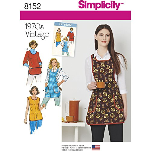 Simplicity Creative Patterns Simplicity Pattern 8152 Misses' Vintage 1970's Aprons, Size: A (X-Small-S-M-L)