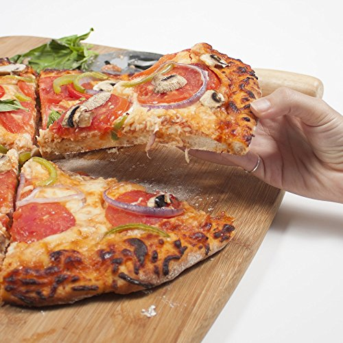The Ultimate 16'' Round Pizza & Bread Stone for Cooking & Baking on Oven & Grill. Exclusive ThermaShock Protection & Core Convection Technology for the Perfect Crispy Crust. Patented No-Spill Stopper by Love This Kitchen (Image #6)