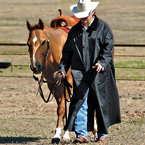 - Double-s M&F Western Men's Adult Saddle Slicker (Small, Black)