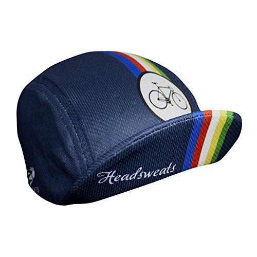 Headsweats 7701-801SWORLDSNVY Cycle Cap Sweat Band, World Navy, One ()