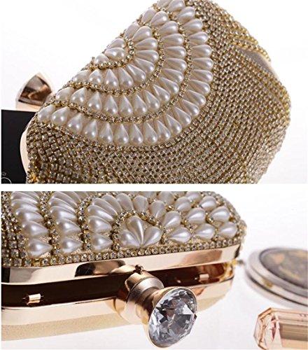 Dress NVBAO Crystals Bags Gold Wedding Clutch Party Evening Tassel Women gold Diamante tqcr5wC8tx