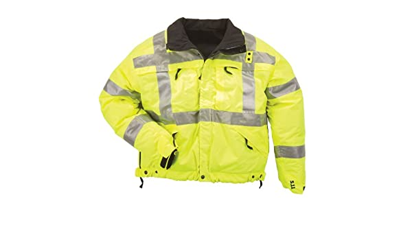 5.11 High Visibilty - Chubasquero para hombre, color Amarillo (Reflective Yellow), talla M: Amazon.es: Deportes y aire libre